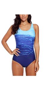 Women Ombre One Piece Swimsuit