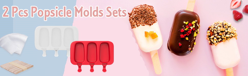 silicone popsicle molds cake ice cream pop mold cakesicle for kids baking
