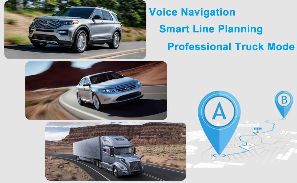 voice navigaiton truck mode
