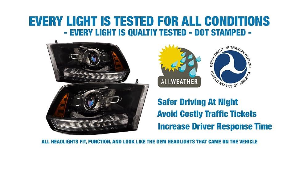 quality headlights depot