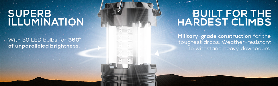 2 Pack LED Lantern