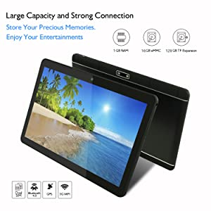 tablet pc with 16GB storage and 128GB expansion