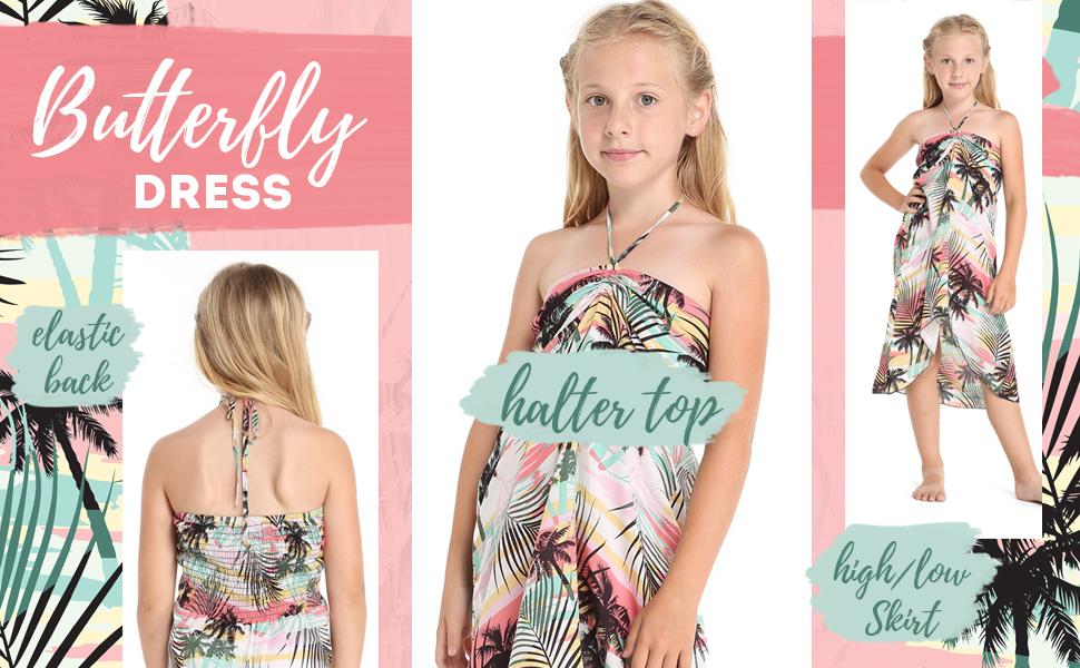 Hawaii Hangover Girl's Butterfly Dress
