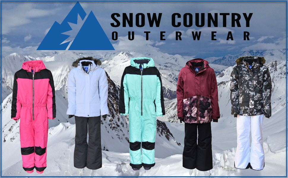 Snow Country Outerwear Girls Youth 1 Piece Insulated Ski Snowsuit Coveralls Age 7 to 14