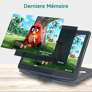 FANGOR Lecteur DVD Portables 15.5 pounce usb sd