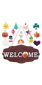Interchangeable Seasonal Welcome Sign