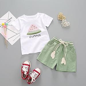 toddler girl t-shirt shorts set