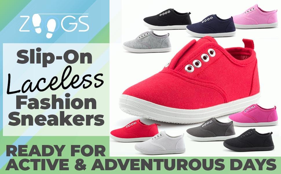 ZOOGS Girls Canvas Fashion Sneaker