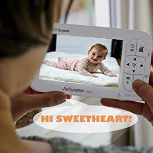 Babysense Video Baby Monitor with camera and audio - two way talk back