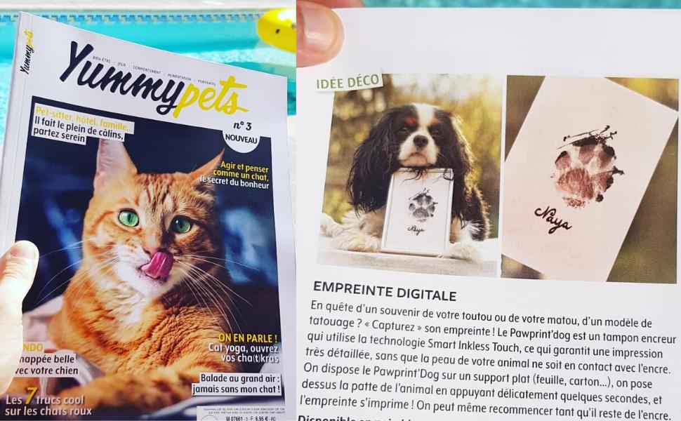 Badogshop yummypets pawprintdog kit empreinte chien chat