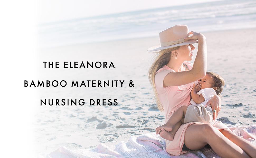 Eleanora bamboo maternity nursing dress