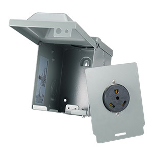 30 A outdoor outlet box