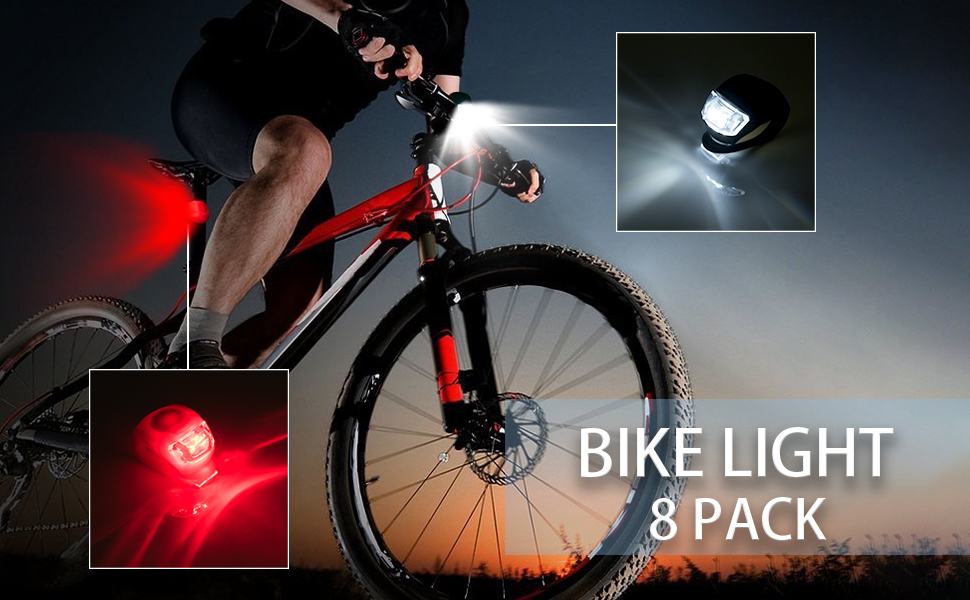 1 pcs Rear Bike Light Silicone LED Frog Bicycle Front Light Safety Warning Lamp