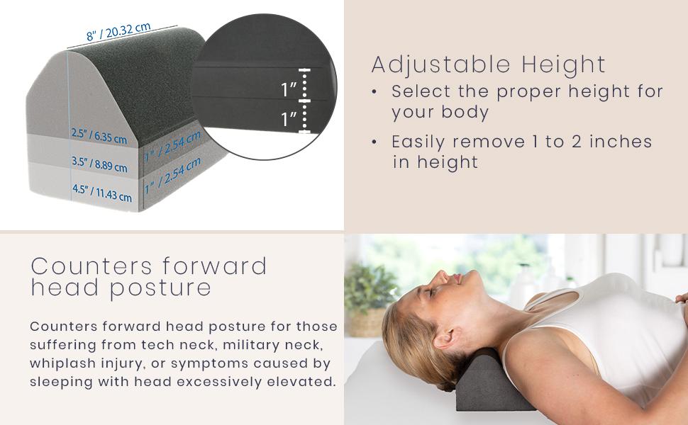 Adjustable height - counters forward head posture