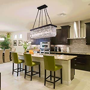 cystal chandelier light for kitchen island table