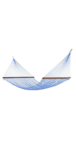 Hatteras Hammocks Deluxe DuraCord Rope Hammock - Coastal Blue