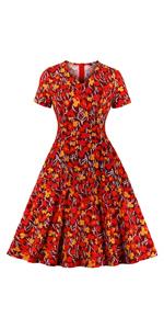 Floral Swing Tea Dress with Pocket