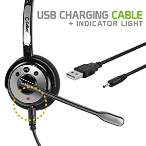 USB Charging Cable with indicator light shows when you are charging.