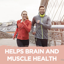 Helps brain and muscle health