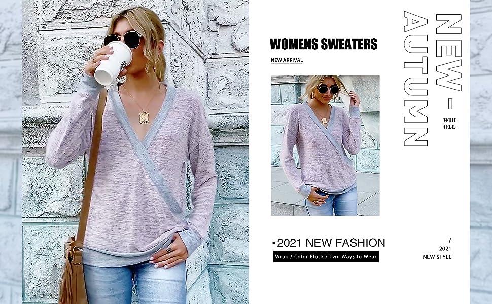 Womens Wrap Sweaters