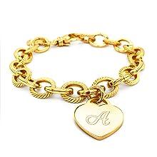 link bracelet charm bracelet bracelet for women gold plated bracelet sizable bracelet adjustable