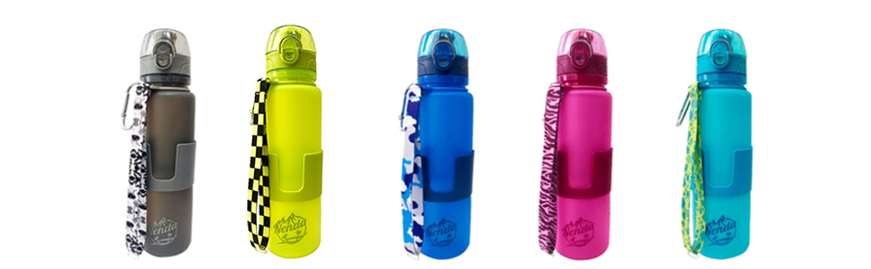 silicone water bottle for kids men women