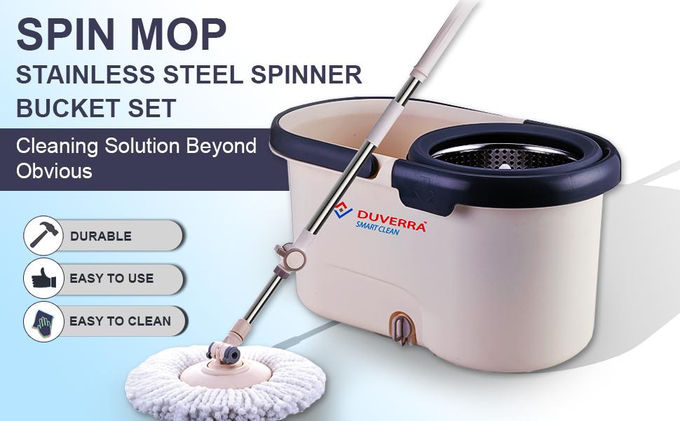 Stainless Steel Spinner Bucket Set