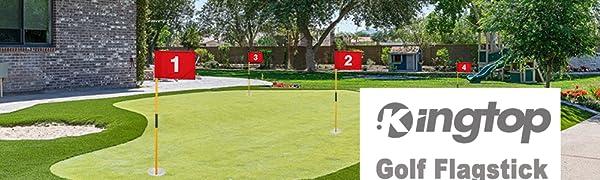 Mini golf flag for yard