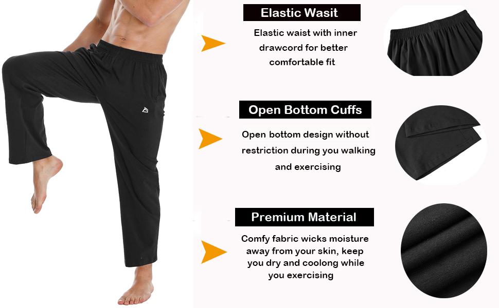 jogger sweatpants for men with zipper pockets