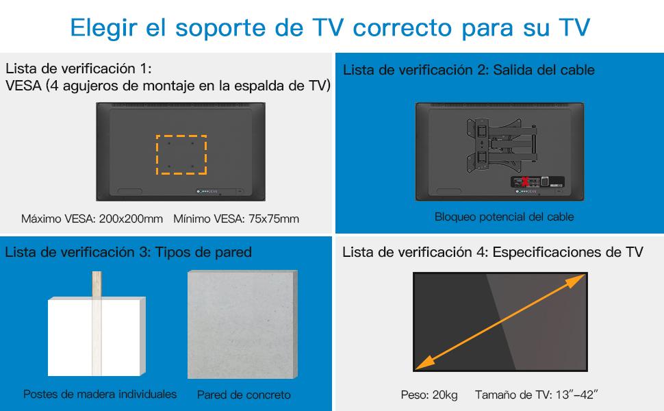 Soporte de Pared para TV 13¨-42¨: Amazon.es: Electrónica