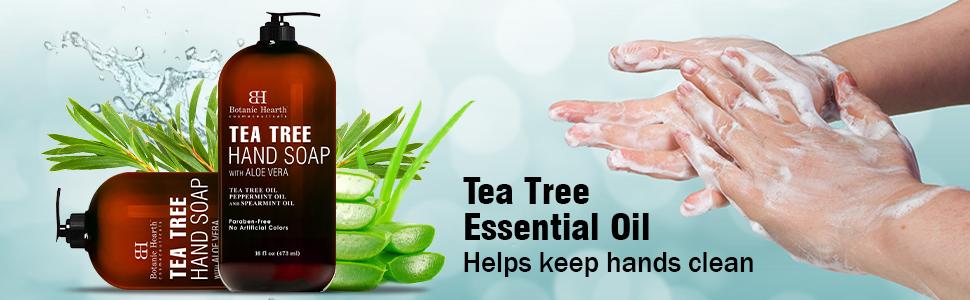 botanic hearth tea tree soap hand wash aloe vera natural organic best top premium paraben free clean