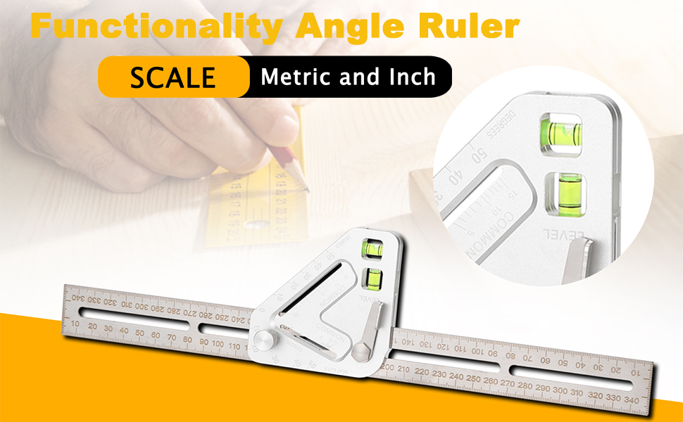 BianchiPatricia Multifunctional Woodworking Protractor Triangle Angle Ruler Measurement