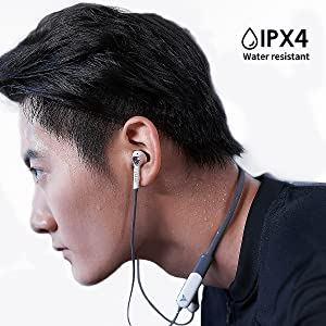 IPX4 water-resistant