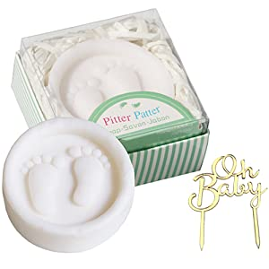 Baby Shower Favours for guests soap favours pitter patter soap