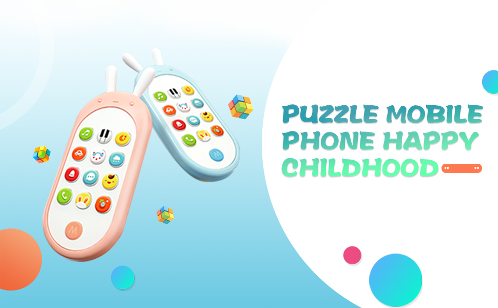 puzzle mobile phone toy for toddler