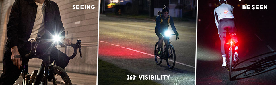 super bright bicycle lights set