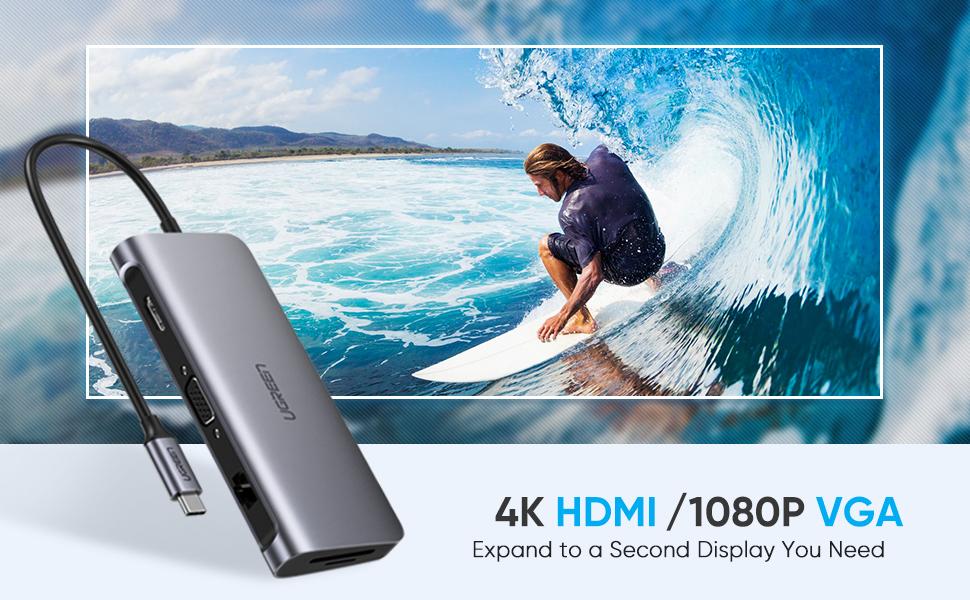 USB C to HDMI VGA Adapter
