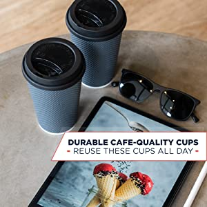 disposable coffee cups with lids 16oz