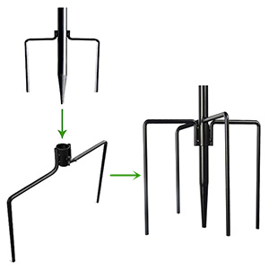 300    5 Prongs for more stability than normal 3 prongs station kit