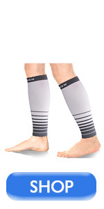 black white calf compression sleeves