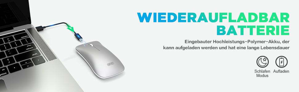 Inphic Mouse Bluetooth Mouse Wireless Ricaricabile Elektronik