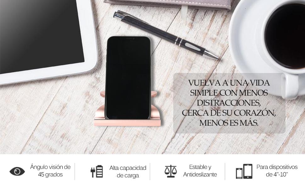 LucaSng Soporte móvil Mesa teléfono,para iPhone,Samsung,iPad ...