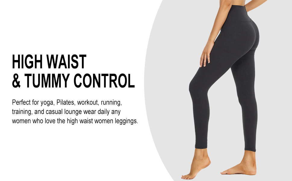 high waist tummy control for yoga, workout, running, exercise, fitness, weightlifting, running