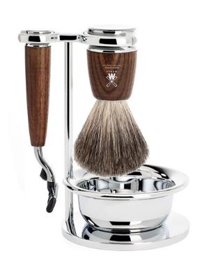 MÜHLE RYTMO 4-piece Pure Badger 3-Blade Razor Shaving Set