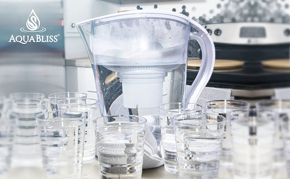 Filtered Water Pitcher Removes Harmful Contaminants Chlorine Metals & Sediments for Clean Water