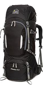 Aveler 80L Waterproof Convertible Lightweight Nylon Internal Frame Backpack with Rain Cover