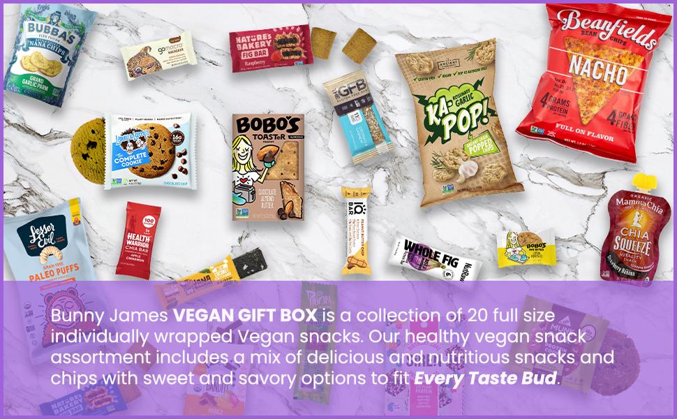 Healthy Vegan Snacks Care Package