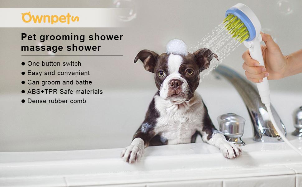 pet bathing sprayer scrubber