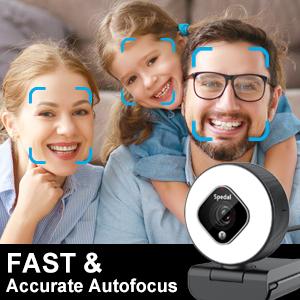 Cámara web de enfoque automático