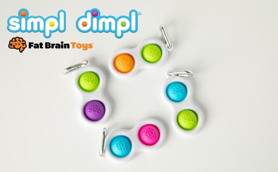 Simpl Dimpl Fat Brain Toy Co Colour: Blue//Pink